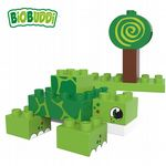 BiOBUDDi - Swamp Turtle/Snail 2 in 1 - Eco Friendly Block Set - 12 Blocks